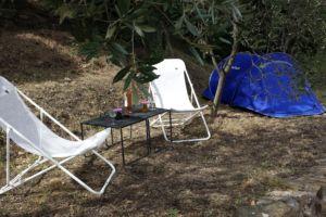 Deux tentes tiennent pas plus ; impeccable pour une famille avec deux enfants