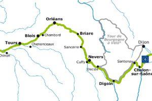 Sur l'Euro vélo 6 ; à mi chemin entre Chalon sur Saône et Digoin